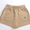 One of One Shorts Women Camel Product Back