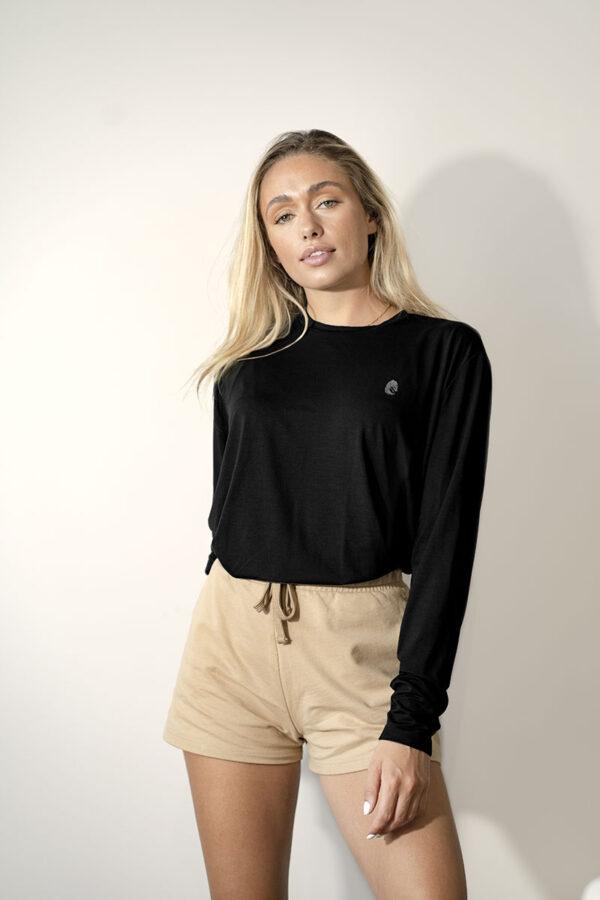 One of One Tshirt Long Sleeve Unisex Black