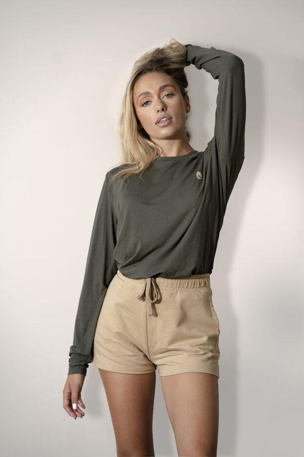 One of One Tshirt Long Sleeve Unisex Camel