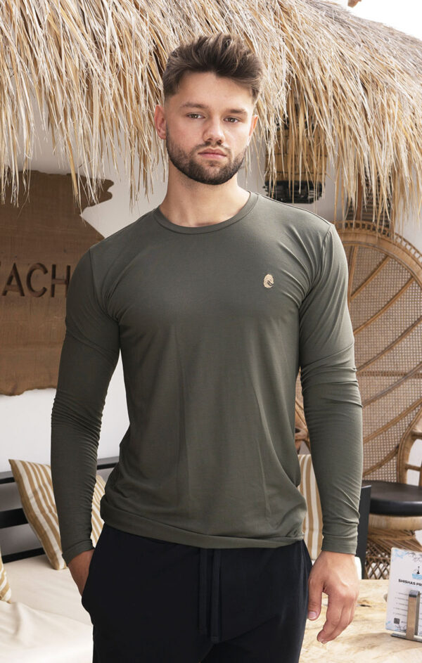 One of One Tshirt Long Sleeve Unisex Olive