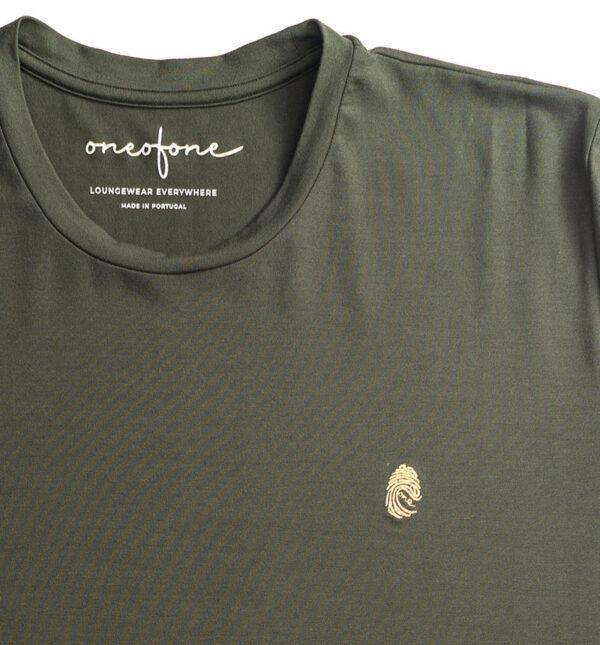 One of One Tshirt Short Sleeve Unisex Olive Detail