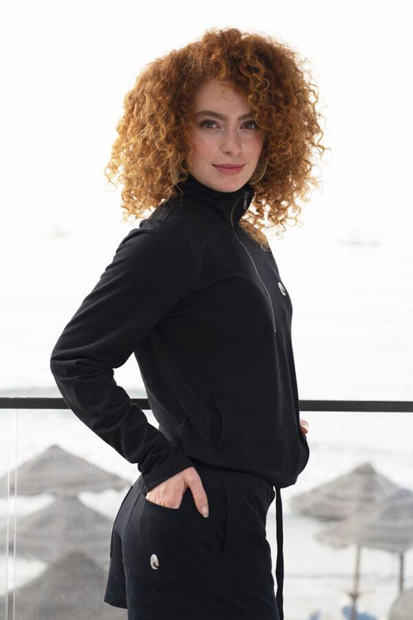 One of One Ziptop Women Black