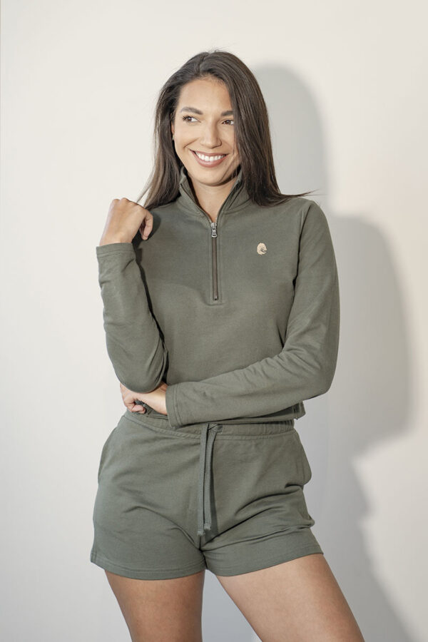 One of One Ziptop Women Olive