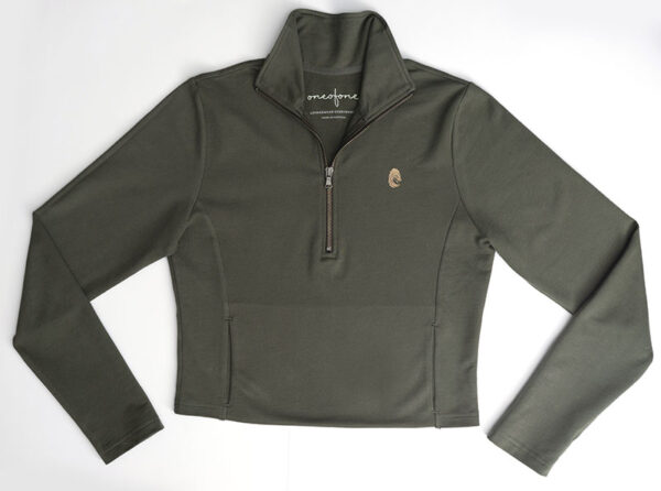 One of One Ziptop Women Olive Product